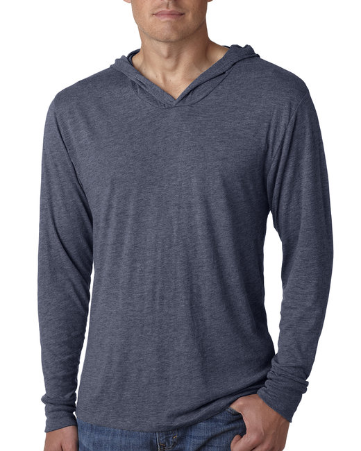 Next Level Adult Triblend Long-Sleeve Hoody - Indigo