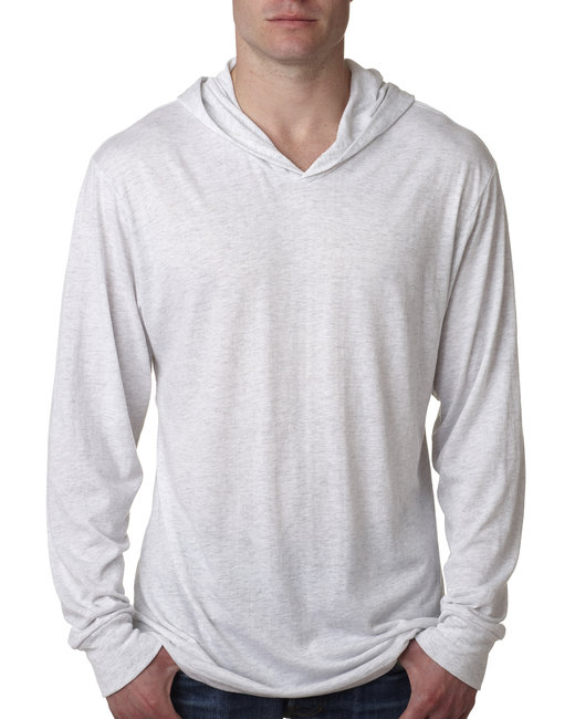 Next Level Adult Triblend Long-Sleeve Hoody - Heather White