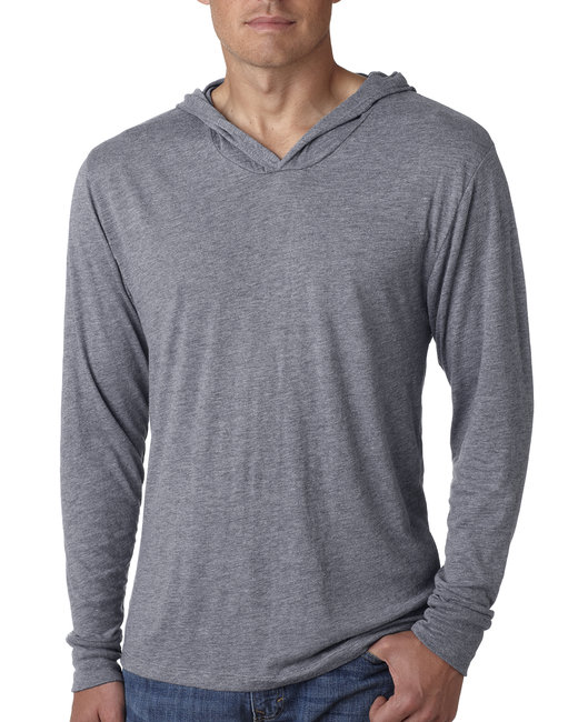 Next Level Adult Triblend Long-Sleeve Hoody - Premium Heather