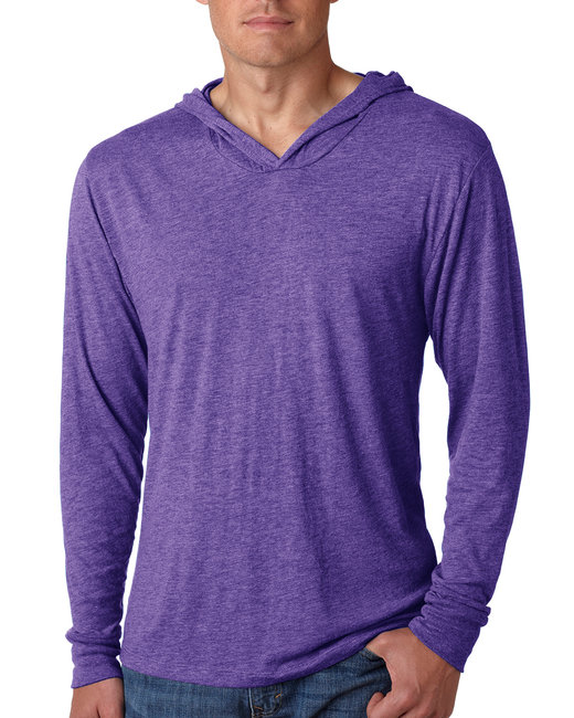 Next Level Adult Triblend Long-Sleeve Hoody - Purple Rush
