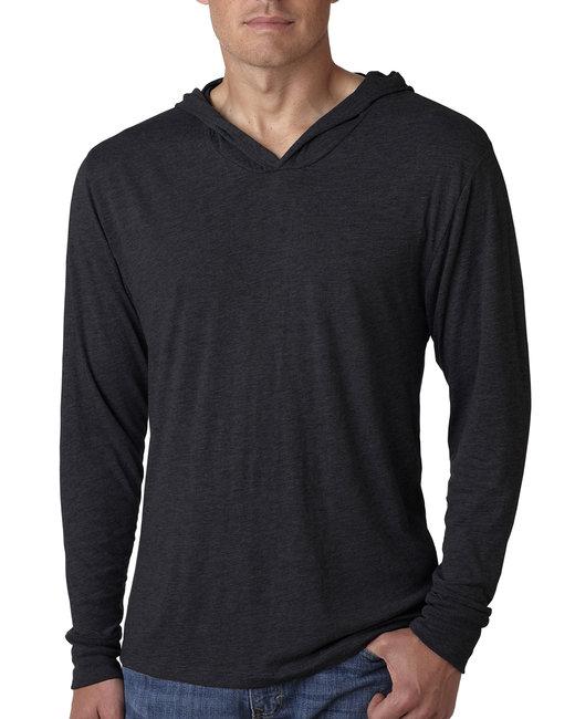 Next Level Adult Triblend Long-Sleeve Hoody - Vintage Black