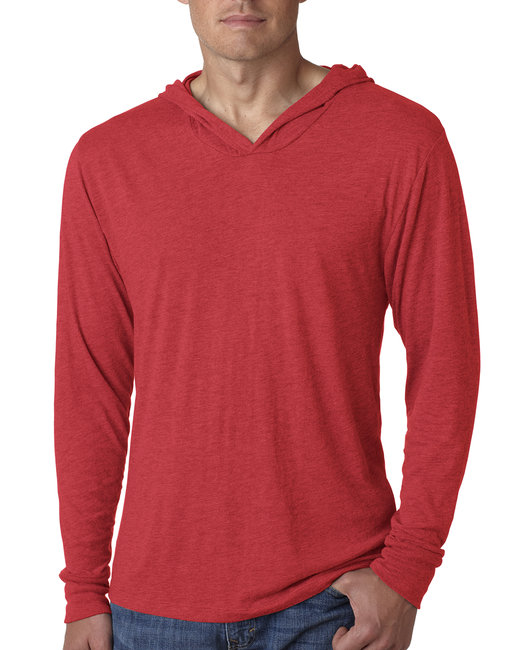 Next Level Adult Triblend Long-Sleeve Hoody - Vintage Red