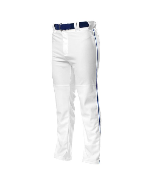 A4 Pro Style Open Bottom Baggy Cut Baseball Pants - White/ Royal