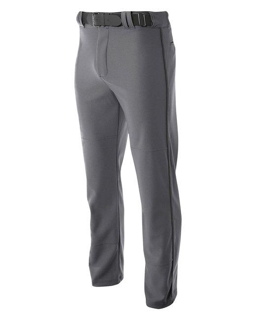 A4 Pro Style Open Bottom Baggy Cut Baseball Pants - Graphite