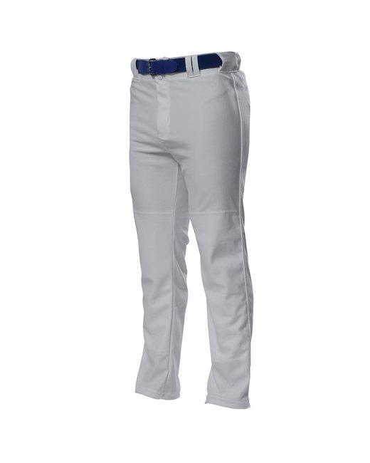 A4 Pro Style Open Bottom Baggy Cut Baseball Pants - Grey