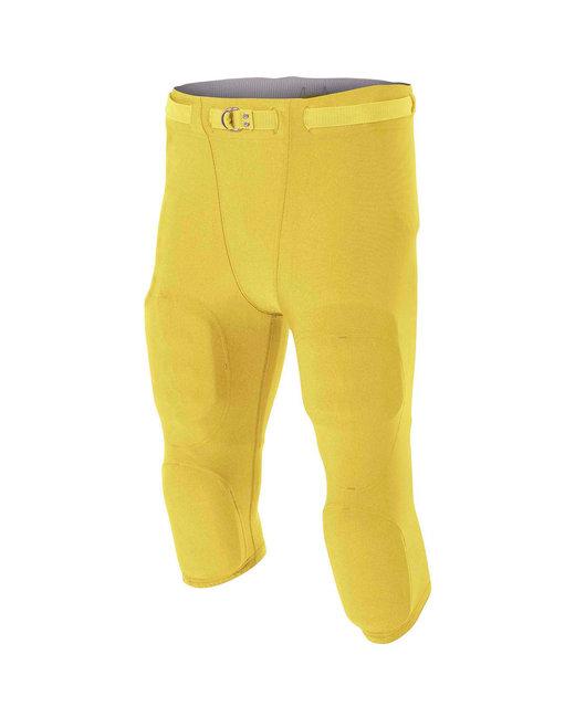 A4 Men's Flyless Football Pant - Gold