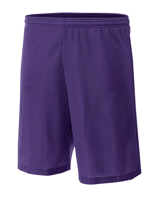 A4 Youth Lined Micro Mesh Short - Purple