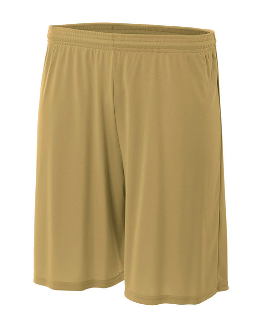 A4 Youth Cooling Performance Polyester Short - Vegas Gold