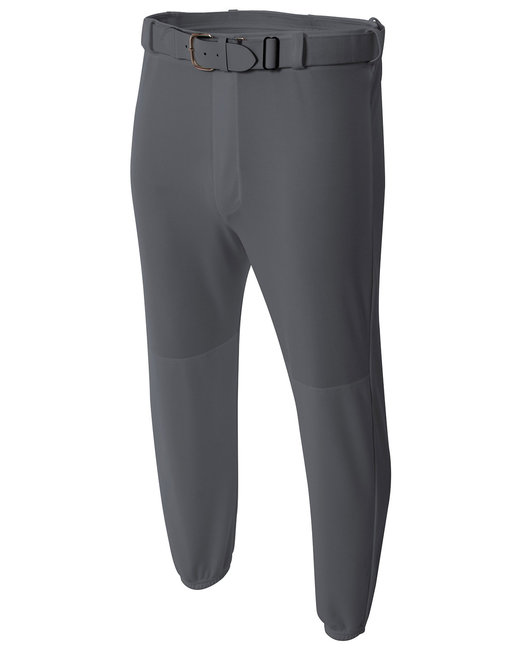 A4 Youth Double Play Polyester Elastic Waist With Belt Loops Baseball Pant - Graphite