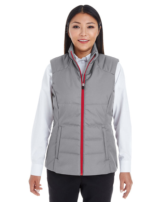 North End Ladies' Engage Interactive Insulated Vest - Graph/ Cls Red