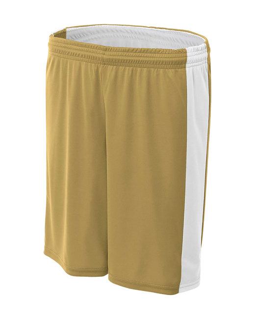 A4 Ladies' Reversible Moisture Management Shorts - Vegas Gold/ Wht