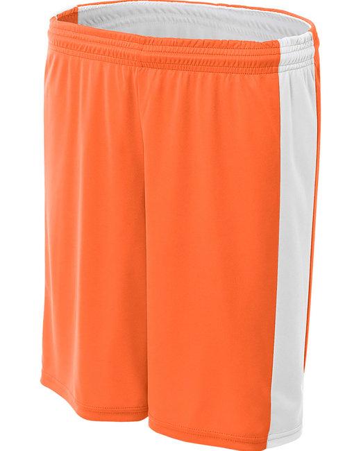 A4 Ladies' Reversible Moisture Management Shorts - Orange/ White
