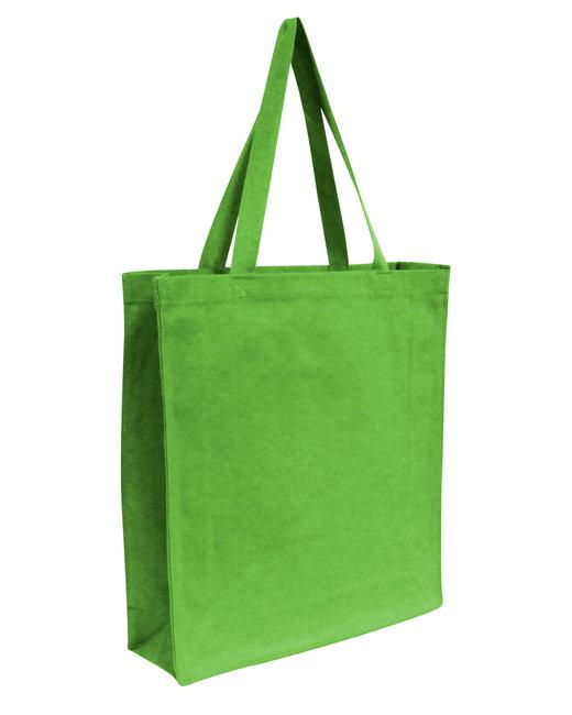 OAD Promo Canvas Shopper Tote - Lime Green