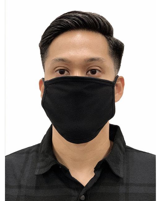 Burnside Adult 3-Ply Face Mask with Filter Pocket - Black