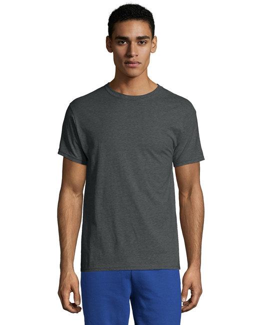 Hanes Unisex 4.5 oz. X-Temp® Performance T-Shirt - Charcoal Heather