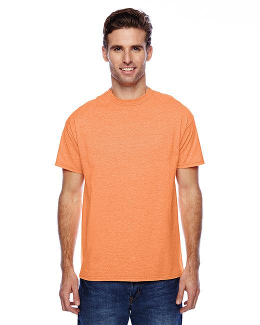 Hanes Unisex 4.5 oz. X-Temp® Performance T-Shirt - Neon Orange Hthr