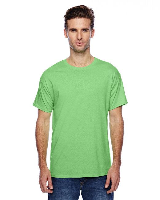 Hanes Unisex 4.5 oz. X-Temp® Performance T-Shirt - Neon Lime Hthr