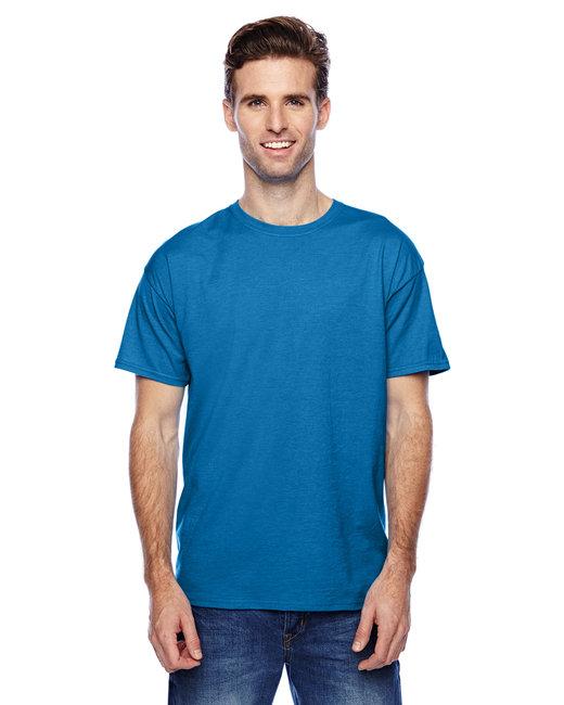 Hanes Unisex 4.5 oz. X-Temp® Performance T-Shirt - Neon Blue Hthr
