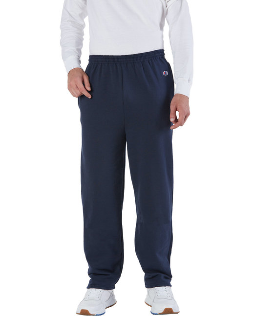P800 Champion Adult 9 oz. Double Dry Eco® Open-Bottom Fleece Pant with Pockets