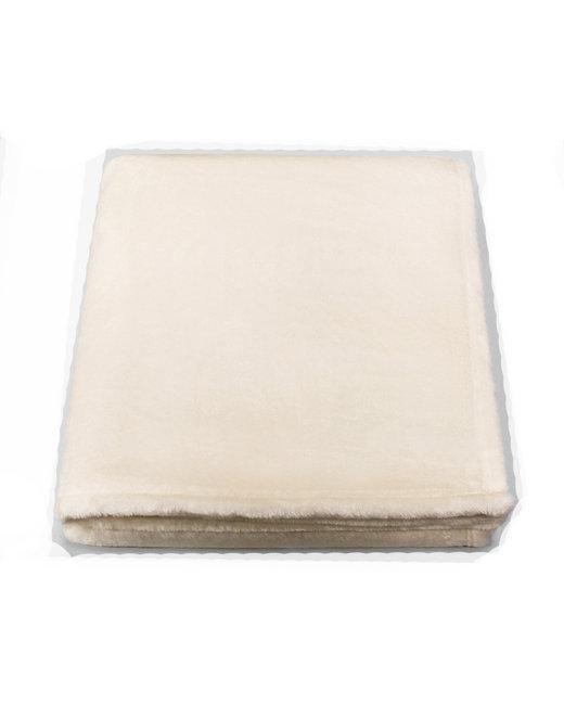 Kanata Blanket Plushera Throw - Vanilla/ Wht