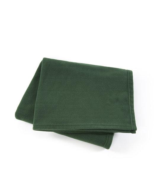 Kanata Blanket Premium Fleece Throw - Hunter Green