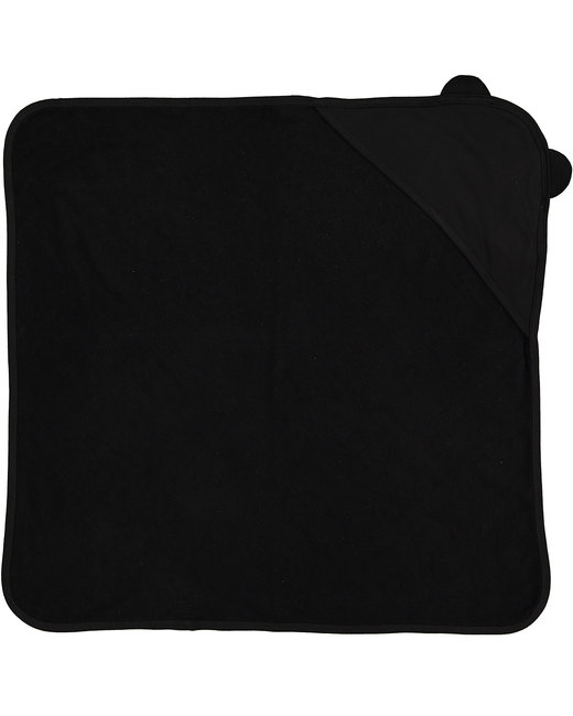 Rabbit Skins Infant Hooded Terry Cloth Towel With Ears - Black