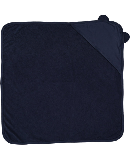 Rabbit Skins Infant Hooded Terry Cloth Towel With Ears - Navy