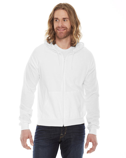 American Apparel Unisex Fine Jersey Zip�Hoodie - White