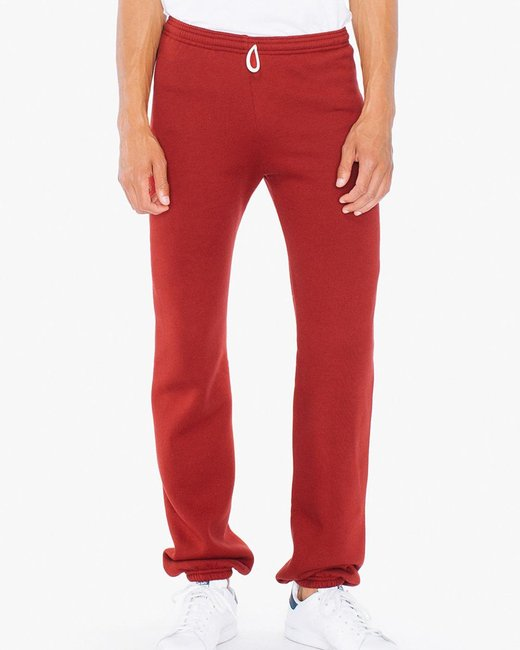 American Apparel Unisex Flex Fleece Sweatpants - Cranberry