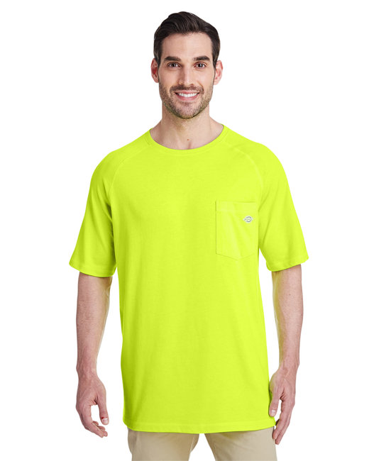 Dickies Men's Tall 5.5 oz. Temp-IQ Performance T-Shirt - Bright Yellow