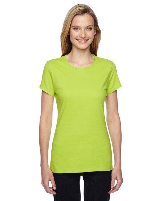 Fruit of the Loom Ladies' 4.7 oz., 100% Sofspun™ Cotton Jersey Junior Crew T-Shirt - SSFJR - Citrus Green - ...