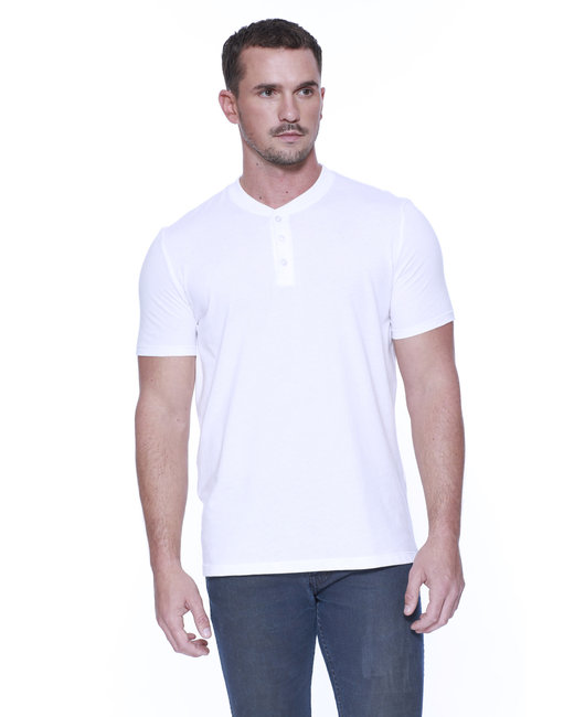 ST2460 StarTee Drop Ship Men's CVC Henley