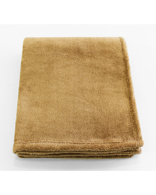 Kanata Blanket Soft Touch Velura Throw - Camel