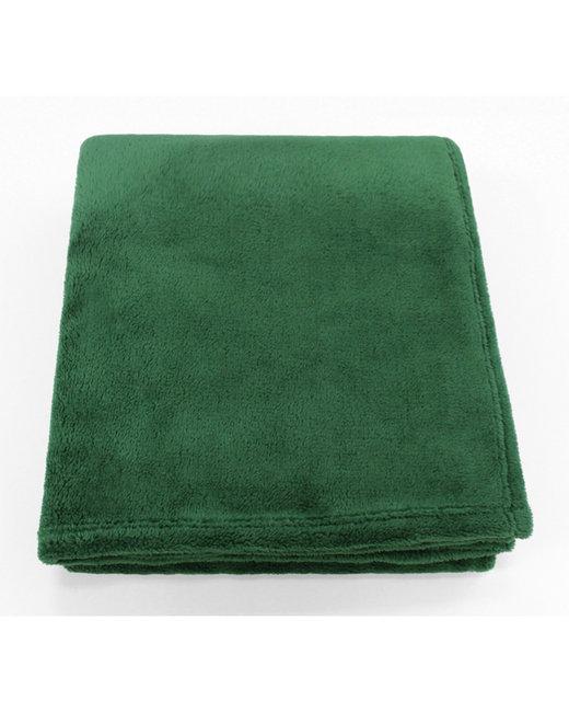 Kanata Blanket Soft Touch Velura Throw - Hunter Green