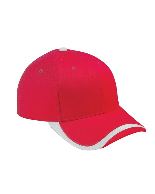 Big Accessories Sport Wave Baseball Cap - Red/ White