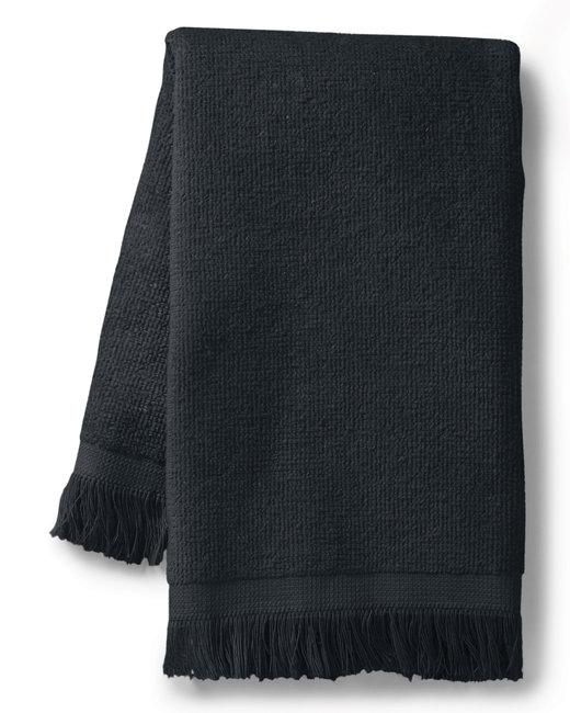 Towels Plus Fringed SpiritTowel - Black