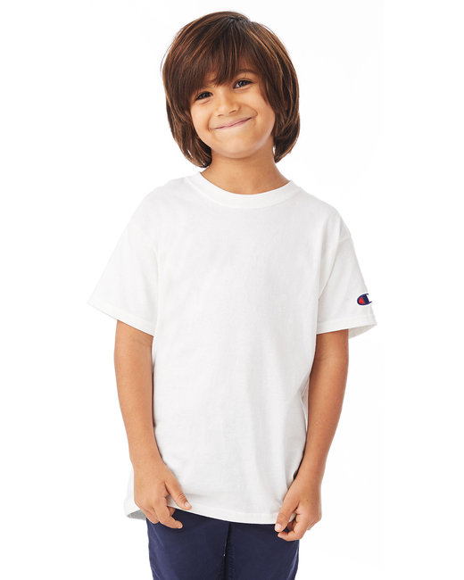 304e5176a2f3 T435 Champion Youth 6.1 oz. Short-Sleeve T-Shirt. Hover to zoom