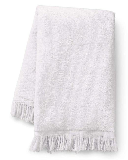 Towels Plus Fringed Fingertip Towel - White