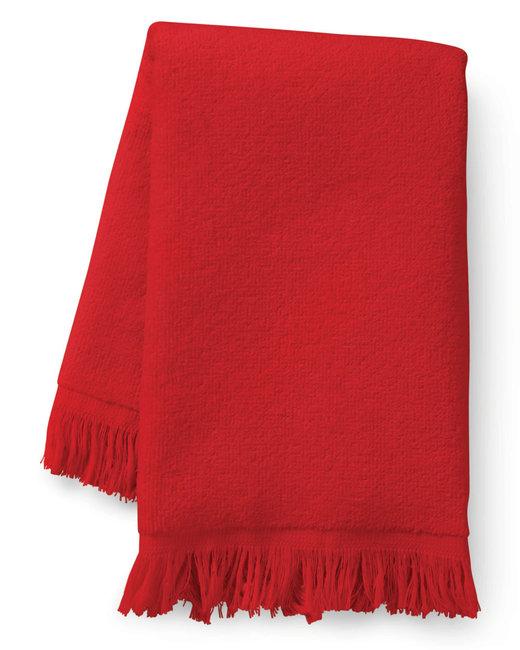 Towels Plus Fringed Fingertip Towel - Red