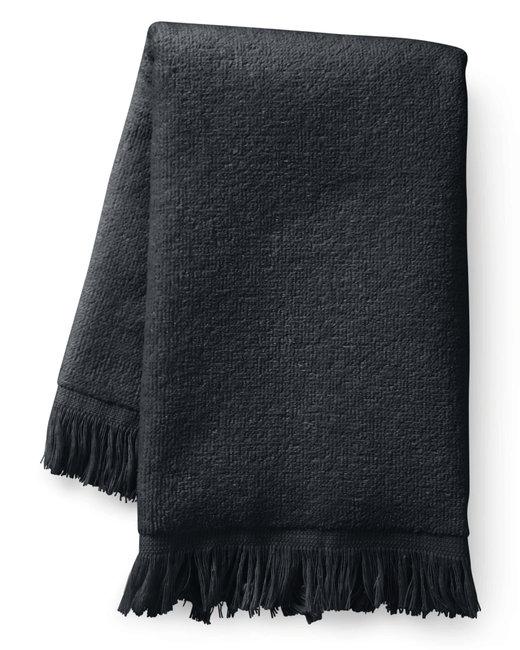 Towels Plus Fringed Fingertip Towel - Black
