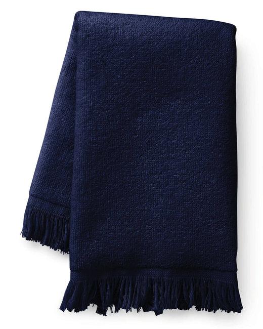 Towels Plus Fringed Fingertip Towel - Navy