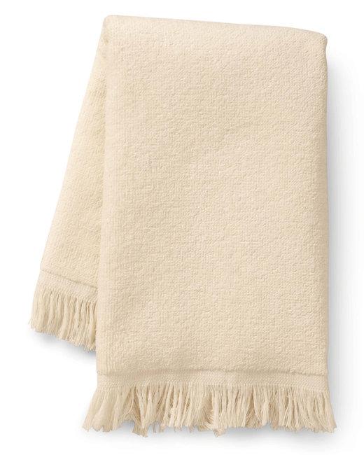 Towels Plus Fringed Fingertip Towel - Vanilla