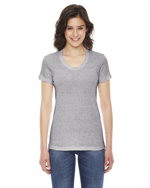 American Apparel Ladies' Triblend Short-Sleeve Track T-Shirt - Athletic Grey