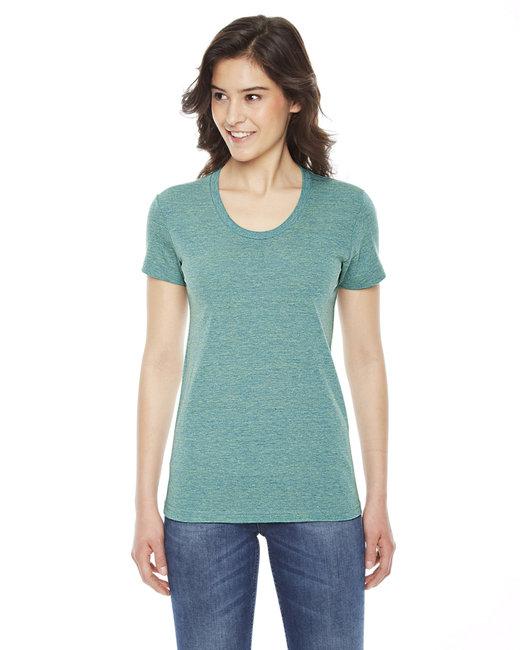 American Apparel Ladies' Triblend Short-Sleeve Track T-Shirt - Tri Lemon