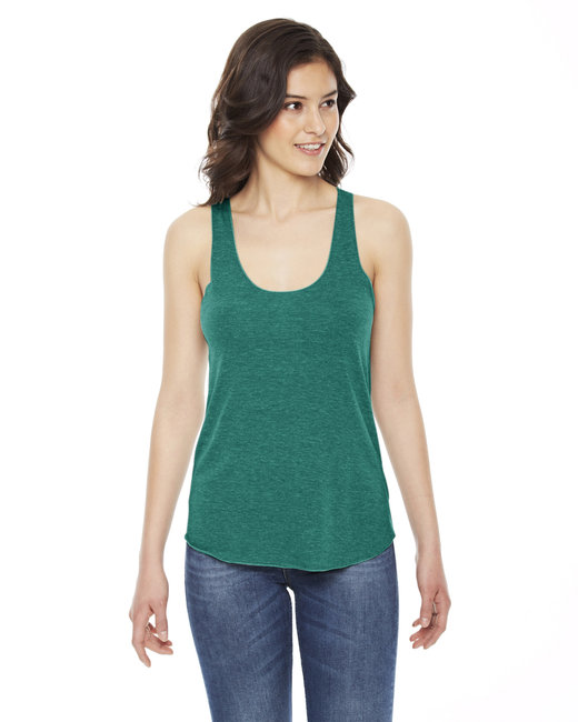American Apparel Ladies' Triblend Racerback Tank - Tri Evergreen