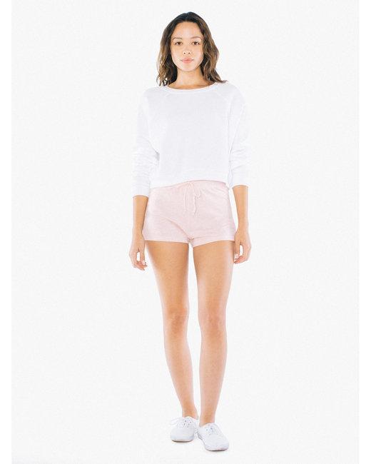 American Apparel Ladies' Tri-Blend Running Short - Tri Creole Pink