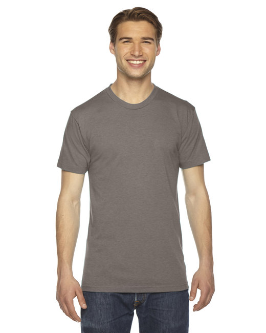 American Apparel Unisex Triblend USA Made Short-Sleeve Track T-Shirt - Tri Coffee