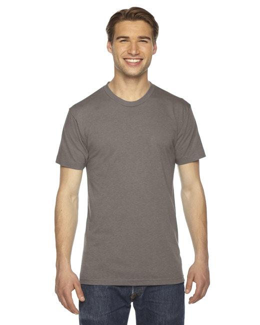 American Apparel Unisex Triblend Short-Sleeve Track T-Shirt - Tri Coffee