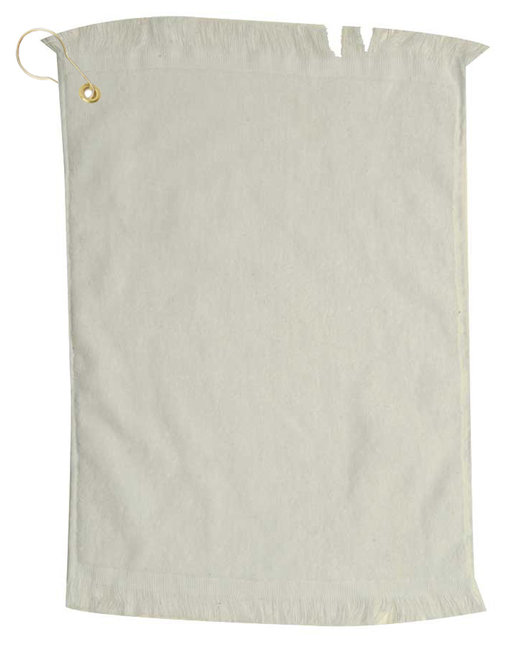 Pro Towels Jewel Collection Fringed Golf Towel - Natural