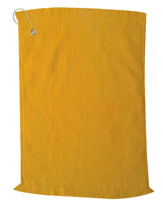 Pro Towels Jewel Collection Fringed Golf Towel - Gold